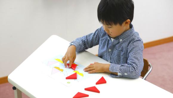 絵づくり三角ピース取り組み