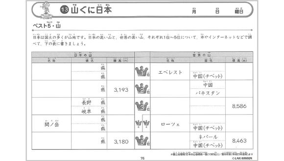 社会科ソングプリント日本地理編_サンプル09